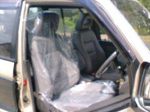 10 X 25 Micron Clear Disposable Plastic Car Seat Covers